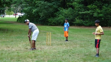 Cricket at the picnic